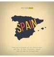 spain map in vintage design Spanish border vector image