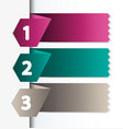 numbered banners vector image