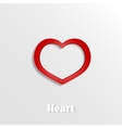 Abstract heart 3D paper icon vector image