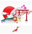 attraction of japan vector image vector image