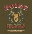 boise idaho t-shirt graphic print vector image