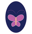 butterfly simple hand drawn design on white vector image vector image