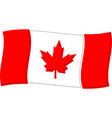 canadian flag graphic vector image vector image