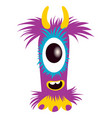 cartoon capital letter i from monster alphabet vector image