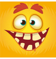 cartoon funny monster vector image vector image