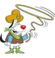 Cartoon Lariat Dog vector image vector image