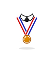 champion winner medal people logo vector image