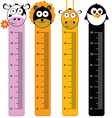 children meter wall with wild animal vector image