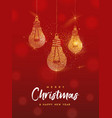 christmas and new year gold glitter greeting card vector image vector image