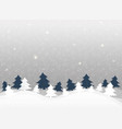 christmas background in clear winter snowflakes vector image vector image