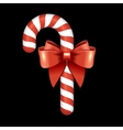 Christmas Candy Cane with Red Ribbon vector image vector image
