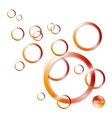 Circle 3D abstraction background vector image vector image