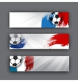 collection of banners on a football theme vector image
