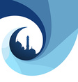 creative islamic design background vector image