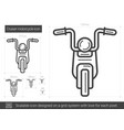 cruiser motorcycle line icon vector image vector image