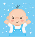 cute little baby boy with stars decoration vector image vector image