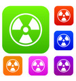 danger nuclear set collection vector image vector image