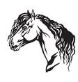 decorative portrait of horse 10 vector image vector image