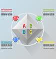 Diamond info Graphic Luxury Glow Plan vector image vector image