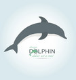 dolphin icon design element vector image vector image