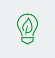 eco bulb icon in thin line style vector image