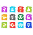 ecology and recycle icons vector image vector image