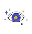 esoteric magic evil eye among stars mystical vector image vector image