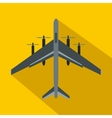 Fighter plane icon flat style vector image vector image