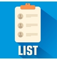 Flat list background concept vector image