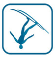 freestyle skiing emblem vector image