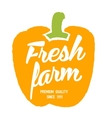 Fresh farm hand drawn isolated label vector image