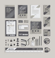 geometric corporate identity design template vector image