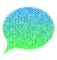halftone blue-green hint icon vector image