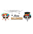 happy halloween poster banner and card with woman vector image vector image