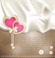 holiday background with silk vector image vector image
