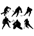 Ice Hockey Player Silhouette vector image vector image