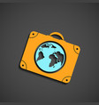 icon suitcase for travel vector image vector image