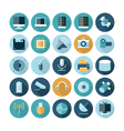 icons flat line technology vector image vector image