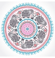 indian ethnic mandala ornament with tribal aztec vector image vector image