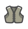 jacket biker clothing icon cartoon vector image