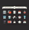 kitchen appliances color icons set vector image