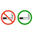 label set smoking place vector image