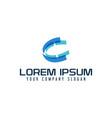 letter c logo tech multimedia design concept vector image vector image