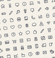 Light Tilted Seamless Pattern with Universal Icons vector image vector image