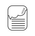 line note papers with pencil design education vector image vector image