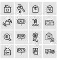line real estate icon set vector image vector image