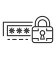 lock password icon outline style vector image