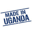 made in uganda stamp vector image vector image