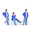 male characters poses vector image vector image