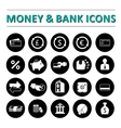 Money bank icons vector image vector image